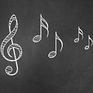 Musiknoten auf Tafel 4 von AnnArtshock
