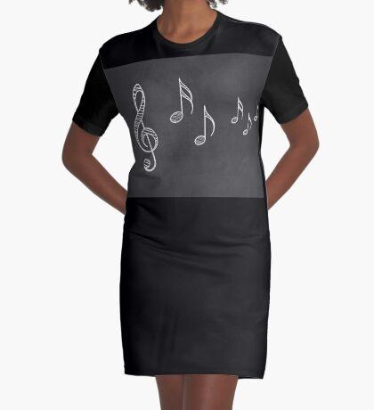 Musiknoten auf Tafel 4 T-Shirt Kleid