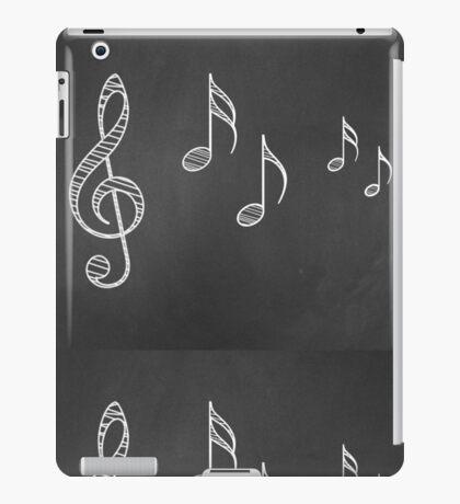 Musiknoten auf Tafel 4 iPad-Hülle & Klebefolie