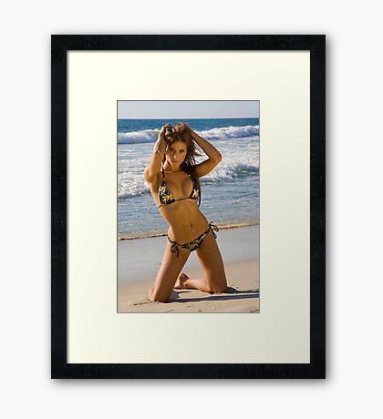Beach Girl 4 Framed Print