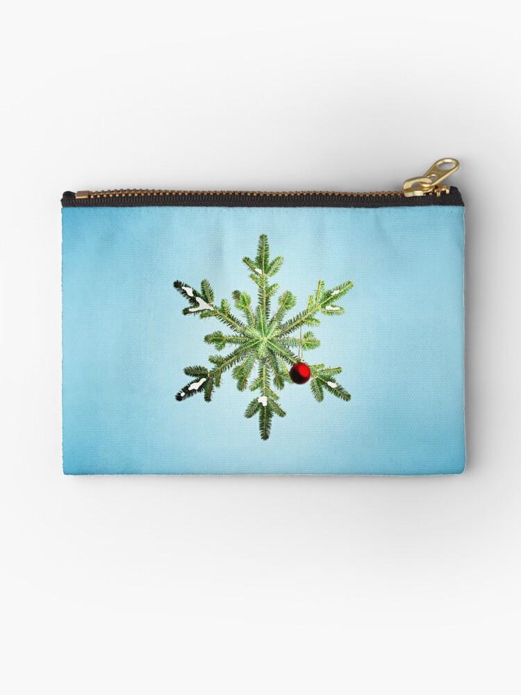 Winter Holidays Pine Snowflake by Boriana Giormova