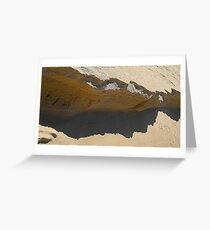 tide layer and shadow cliffs Greeting Card