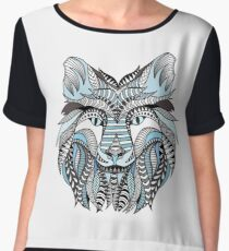 Winter wolf Chiffon Top