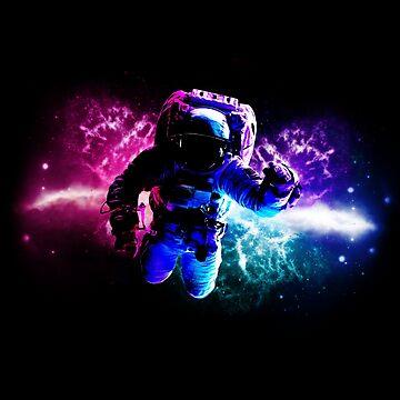Astronaunt Space Nebula by ratherkool