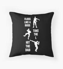 Floss Dab Take the L Fortnite Dance Throw Pillow