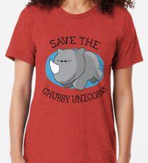 Chubby Unicorn Tri-blend T-Shirt