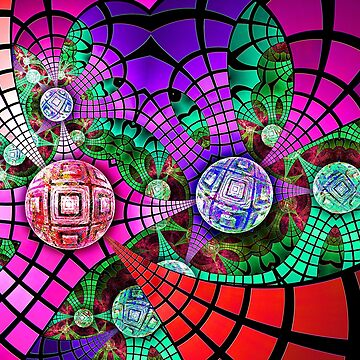 Grids and bubbles by LoreLeft27