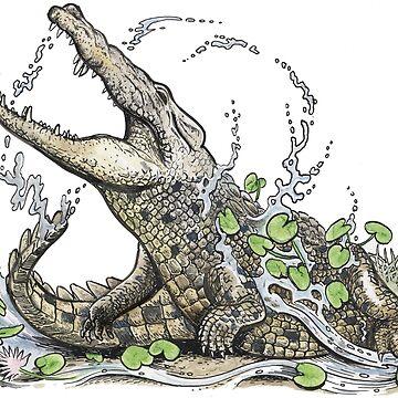 Thrashing Croc by SnakeArtist