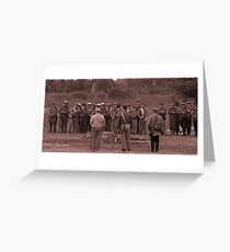 Muster co C sepia Greeting Card