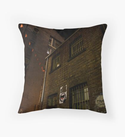 The end of the lane Throw Pillow