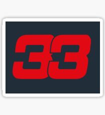 Number 33 Sticker