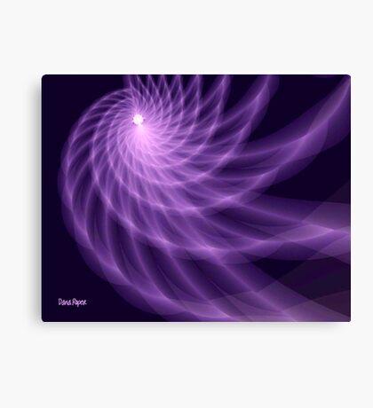 Purple Spiral Canvas Print