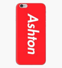 Hello My Name Is Ashton Name Tag iPhone Case