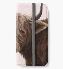 highland cattle portrait  iPhone Wallet/Case/Skin