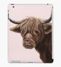 highland cattle portrait  iPad Case/Skin