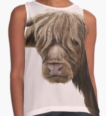highland cattle portrait  Sleeveless Top