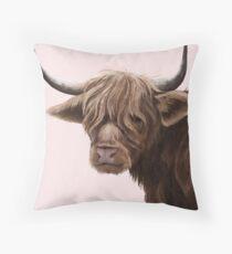 highland cattle portrait  Floor Pillow