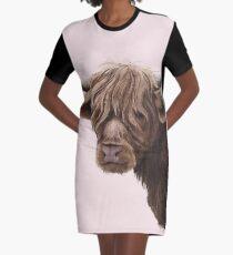 highland cattle portrait  Graphic T-Shirt Dress