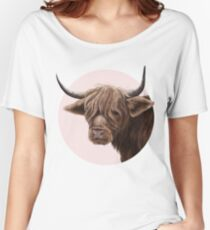 highland cattle portrait  Relaxed Fit T-Shirt