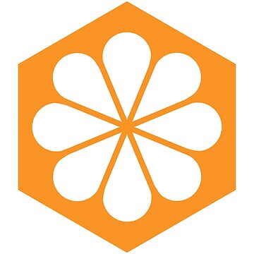 Geometric Pattern: Hexagon Flower: White/Orange by redwolfoz