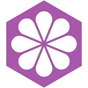 Geometric Pattern: Hexagon Flower: White/Purple by redwolfoz