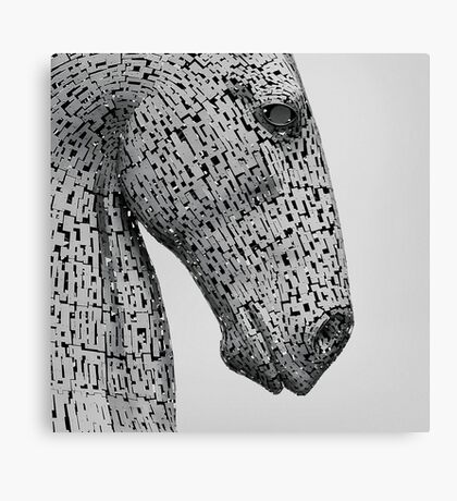 The Kelpies Sculpture in Falkirk Scotland Canvas Print