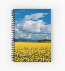 Skagit Daffodil Fields Spiral Notebook