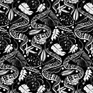 Tribal Black Mambas - Black  by TigaTiga