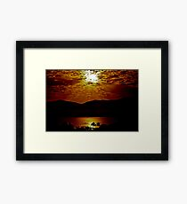 Rays of the Sun Framed Print