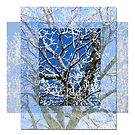 Ice Tree Collage by Tibby Steedly