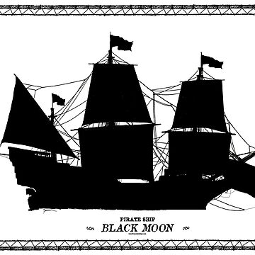 Black Moon, pirate ship by tonyfernandes1
