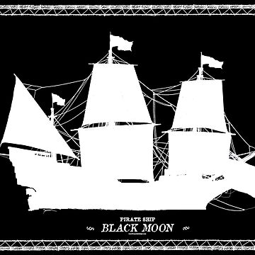 Pirate Ship Black Moon by tonyfernandes1