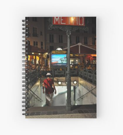 Metro descent Spiral Notebook