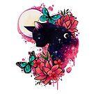 Midnight Cat by lornalaine