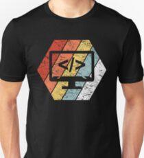 Vintage Coding Shirt Funny Programming Retro 80s Style Unisex T-Shirt