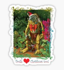 Trolls Love Christmas too Sticker