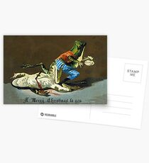 Macabre Victorian Christmas Greetings - Criminal Frogs Postcards