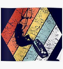 Vintage Kitesurfing Shirt Funny Kitesurfing Retro 80s Style Poster
