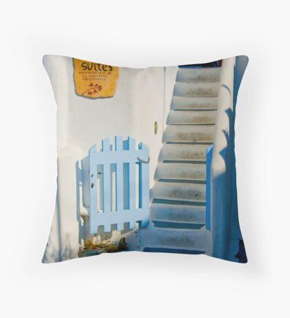 Santorini #4 Throw Pillow