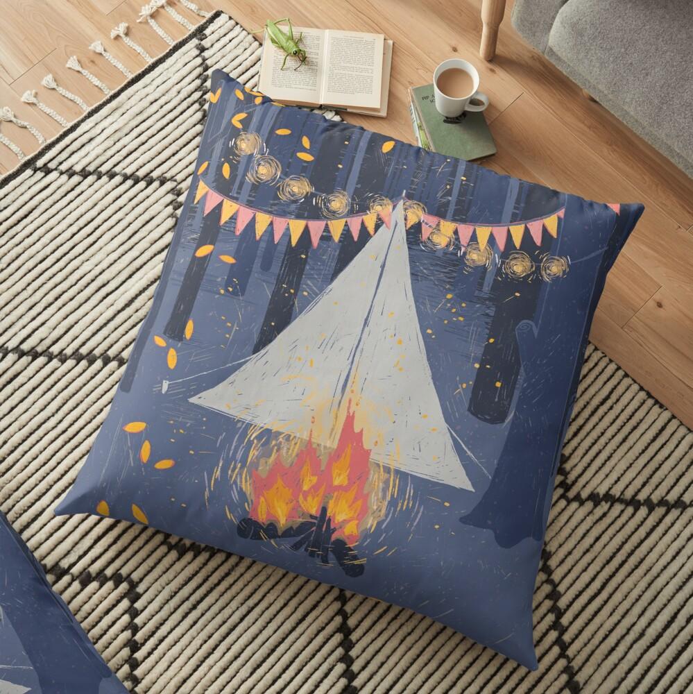 Camp Floor Pillow