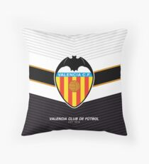 Valencia Club de Futbol | est 1919 | Logo Design - Pillow | Phone Case | Tablet | T Shirt | Duvet | Mug | Clock | Poster | Home Decor and more Throw Pillow