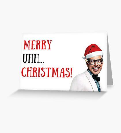 Tarjeta de Navidad divertida de Jeff Goldblum, Tarjeta de Navidad, Citas, Regalos, Regalos, Novio, Novia, Familia, Marido, Esposa, Hermana, Hermano, Mamá, Papá, Tarjetas de felicitación de Meme Tarjeta de felicitación