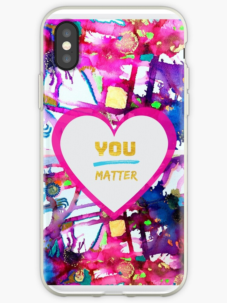YOU Matter Self Care Design in Gold by Rachael Hope