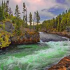 USA. Wyoming. Yellowstone National Park. Yellowstone River. by vadim19