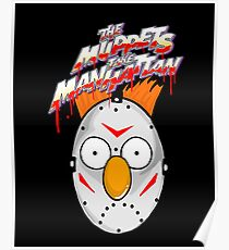 muppets beaker mashup friday the 13th Poster