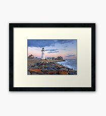 Morning Light On Scituate Harbor Framed Print