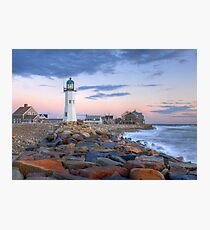 Morning Light On Scituate Harbor Photographic Print