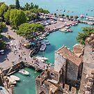 Sirmione Harbour and Lake Garda by Chris Warham