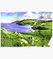 Torr Head View, Ireland. (Painting.) Poster