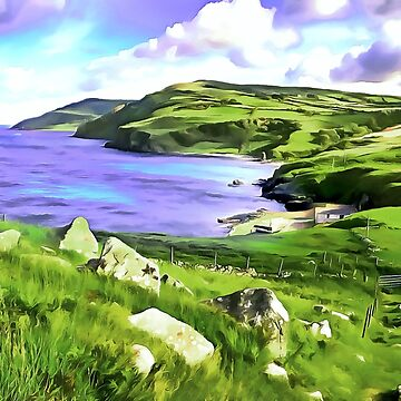 Torr Head View, Ireland. (Painting.) by cmphotographs
